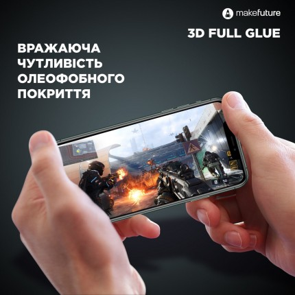 Захисне скло MakeFuture 3D Apple iPhone X/XS Black