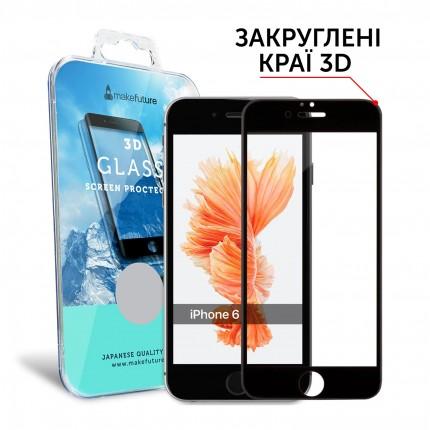Захисне скло MakeFuture 3D Apple iPhone 6/6s Black