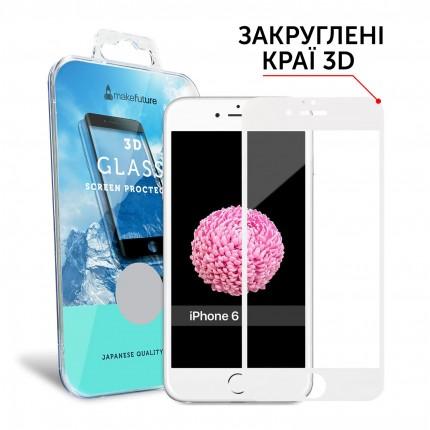 Захисне скло MakeFuture 3D Apple iPhone 6/6s White