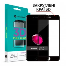Захисне скло MakeFuture 3D Apple iPhone 7 Plus/8 Plus Black