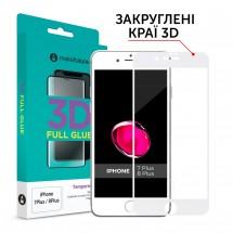 Захисне скло MakeFuture 3D Apple iPhone 7 Plus/8 Plus White