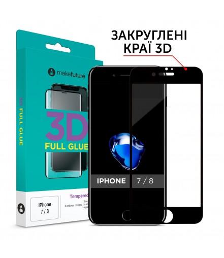 Захисне скло MakeFuture 3D Apple iPhone 7/8 Black