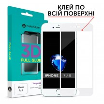 Захисне скло MakeFuture 3D Apple iPhone 7/8 White