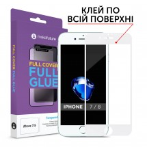 Захисне скло MakeFuture Full Cover Full Glue Apple iPhone 7/8 White
