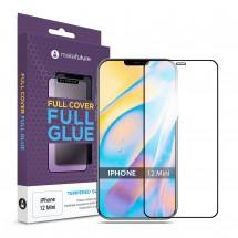 Захисне скло MakeFuture Apple iPhone 12 Mini Full Cover Full Glue Black