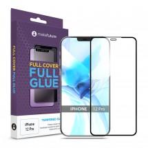 Захисне скло MakeFuture Apple iPhone 12 Pro Full Cover Full Glue Black