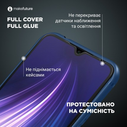 Захисне скло MakeFuture Full Cover Full Glue Xiaomi Redmi Note 9 Pro