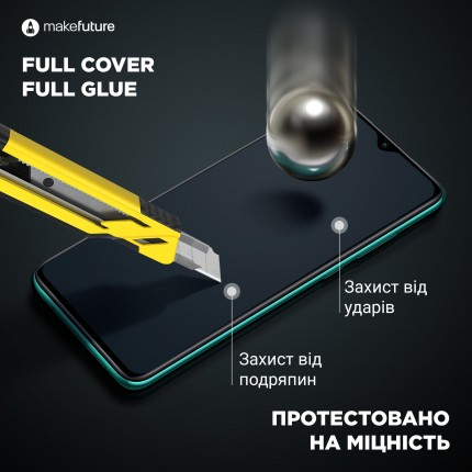 Захисне скло MakeFuture Full Cover Full Glue Xiaomi Mi A3 Black
