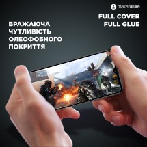 Захисне скло MakeFuture Full Cover Full Glue Samsung A40 (A405)