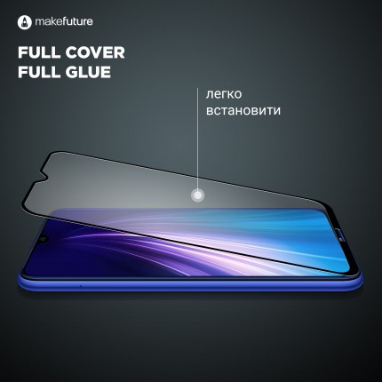Захисне скло MakeFuture Samsung A20 (A205) Full Cover Full Glue