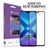 Захисне скло MakeFuture Honor 8X Full Cover Full Glue Black