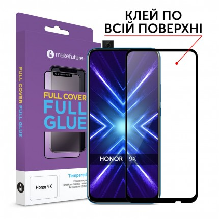 Захисне скло MakeFuture Full Cover Full Glue Honor 9X