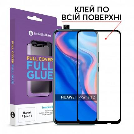 Захисне скло MakeFuture Full Cover Full Glue Huawei P Smart Z Black