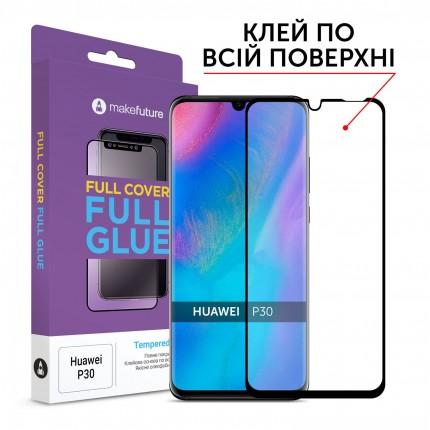 Захисне скло MakeFuture Full Cover Full Glue Huawei P30