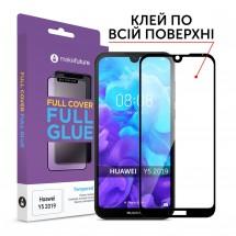 Захисне скло MakeFuture Huawei Y5 2019 Full Cover Full Glue Black