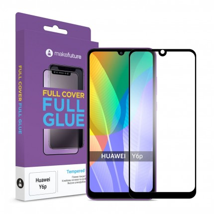 Захисне скло MakeFuture Full Cover Full Glue Huawei Y6p Black