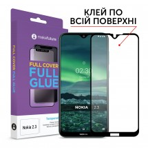 Захисне скло MakeFuture Nokia 2.3 Full Cover Full Glue Black