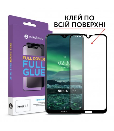 Захисне скло MakeFuture Full Cover Full Glue Nokia 2.3 Black