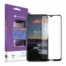 Захисне скло MakeFuture Nokia 5.3 Full Cover Full Glue Black