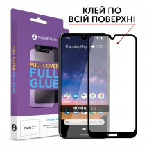 Захисне скло MakeFuture Nokia 2.2 Full Cover Full Glue Black