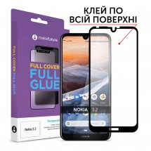 Захисне скло MakeFuture Nokia 3.2 Full Cover Full Glue Black