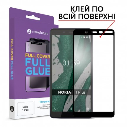 Захисне скло MakeFuture Full Cover Full Glue Nokia 1 Plus