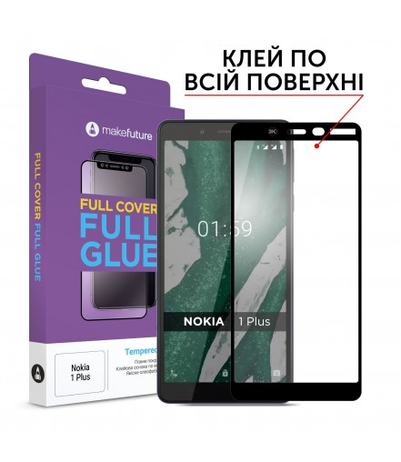 Захисне скло MakeFuture Full Cover Full Glue Nokia 1 Plus