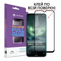 Захисне скло MakeFuture Full Cover Full Glue Nokia 6.2/7.2 Black