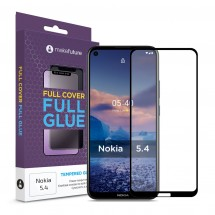 Захисне скло MakeFuture Nokia 5.4 Full Cover Full Glue Black