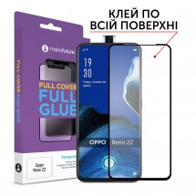Захисне скло MakeFuture Full Cover Full Glue Oppo Reno 2Z Black