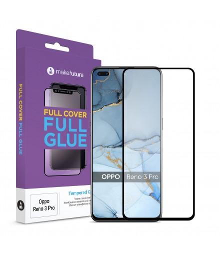Захисне скло MakeFuture Full Cover Full Glue Oppo Reno 3 Pro Black