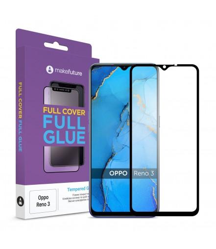 Захисне скло MakeFuture Full Cover Full Glue Oppo Reno 3 Black