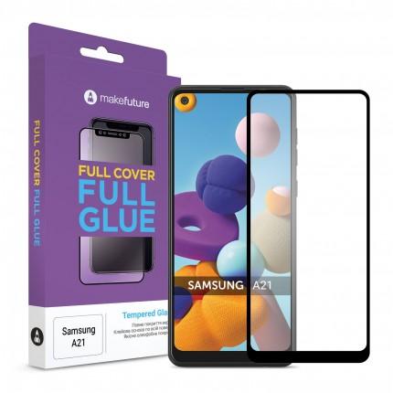 Захисне скло MakeFuture Full Cover Full Glue Samsung A21