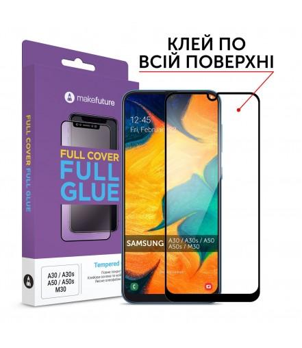 Захисне скло MakeFuture Full Cover Full Glue Samsung A30/A30s/A50/A50s/M30