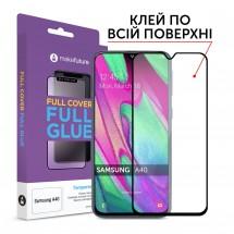 Захисне скло MakeFuture Samsung A40 (A405) Full Cover Full Glue