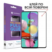 Захисне скло MakeFuture Samsung A51 Full Cover Full Glue