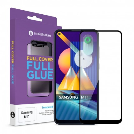 Захисне скло MakeFuture Full Cover Full Glue Samsung M11