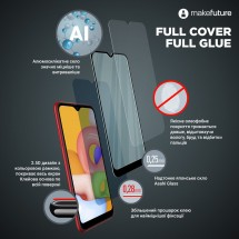 Захисне скло MakeFuture Honor 7A Full Cover Full Glue Black