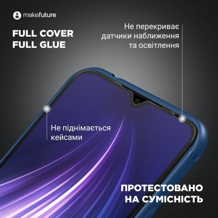 Захисне скло MakeFuture Full Cover Full Glue Oppo A9 (2020)