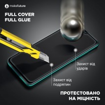 Захисне скло MakeFuture Full Cover Full Glue Oppo Reno 3 Pro Black
