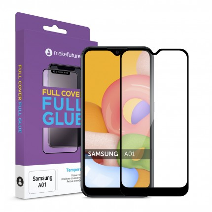 Захисне скло MakeFuture Samsung A01 Full Cover Full Glue