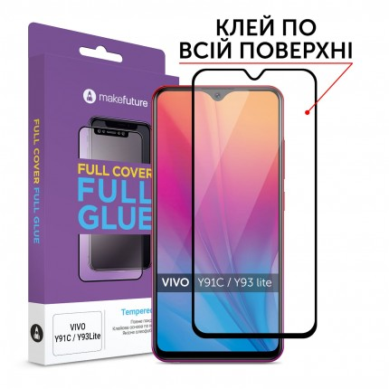 Захисне скло MakeFuture Full Cover Full Glue Vivo Y91C/Y93 Lite