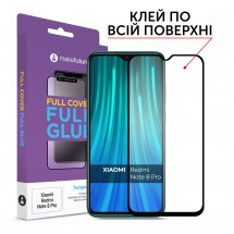 Захисне скло MakeFuture Full Cover Full Glue Xiaomi Redmi Note 8 Pro Black