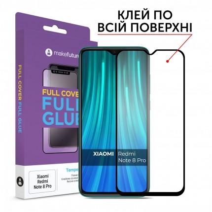 Захисне скло MakeFuture Full Cover Full Glue Xiaomi Redmi Note 8 Pro