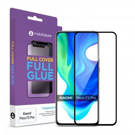 Захисне скло MakeFuture Full Cover Full Glue Xiaomi Poco F2 Pro Black