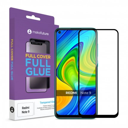 Захисне скло MakeFuture Xiaomi Redmi Note 9 Full Cover Full Glue