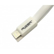 Кабель AUZER Flat USB to Lightning  White