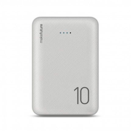 MakeFuture Універсальна мобільна батарея 10000 mAh Li-Pol White