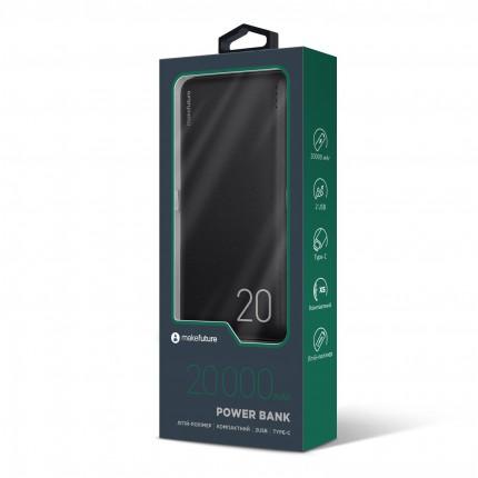 MakeFuture Універсальна мобільна батарея (Power Bank) 20000 mAh Li-Pol Black