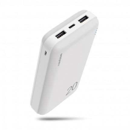 MakeFuture Універсальна мобільна батарея (Power Bank) 20000 mAh Li-Pol White